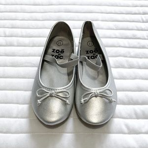 Girls Silver Shoes
